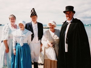 Fellowship members in costumer ready for the re-enactment programme (C Timbury)