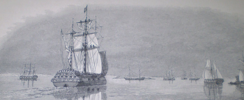 The First Fleet Entering Botany Bay