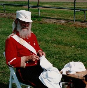 Historical re-enactment group Marine mending cloths (H Timbury)