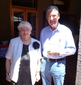 Elizabeth Haywood descendants, Verna Henderson and John Eyles, Australia Day 26 January 2014 (C Timbury)