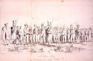 Chain gang convicts going to work near Sidney (Sydney) N.S. Wales (Wikipedia)