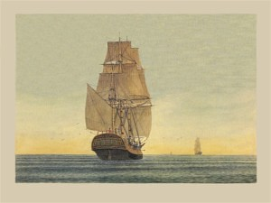 Store-ship 'Borrowdale' (Marine Artist Frank Allen)