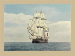 Convict Transport 'Alexander' (Marine Artist Frank Allen)