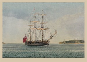 Store-ship 'Fishburn' (Marine Artist Frank Allen)