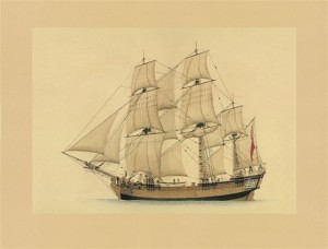 Store-ship 'Golden Grove' (Marine Artist Frank Allen)