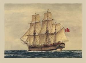 HMS 'Sirius' (Marine Artist Frank Allen)