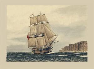 HMS Supply (Marine Artist Frank Allen)