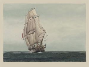 Convict Transport 'Lady Penrhyn' (Marine Artist Frank Allen)