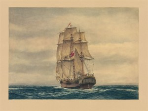 Convict Transport 'Prince of Wales' (Marine Artist Frank Allen)