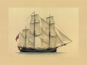 Convict Transport 'Scarborough' (Marine Artist Frank Allen)