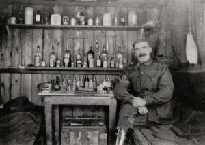 Albert Atkinson, Regimental Aid Post France c1918 (courtesy J Trott)