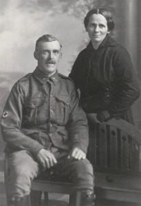 Albert Robert and Amy Eva (Smith) Atkinson, October 1916 (courtesy J Trott)
