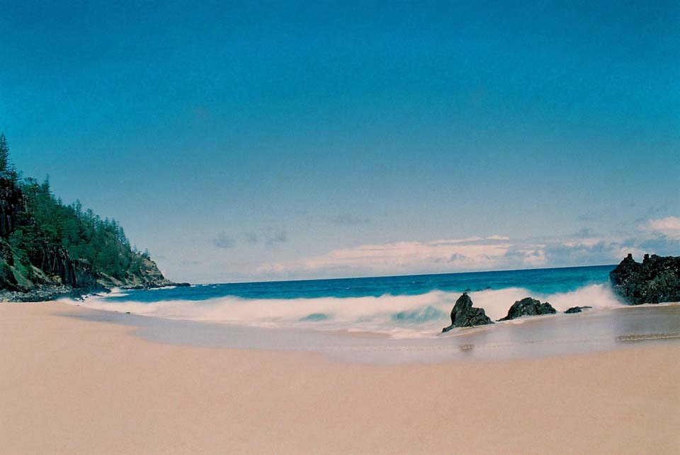 anson bay beach on norfolk island
