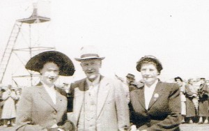 Daughter Doreen, Allan and wife Frances Smith at the Melbourne Cup 1960 (courtesy R Rolton)