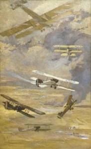 warplanes awm ART03029 Will Longstaff, War planes of the Australian Flying Corps 1918-1919
