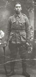 Oscar Henry Vince in his WW1, AIF Uniform  (SLofT - PH30-1-9951)