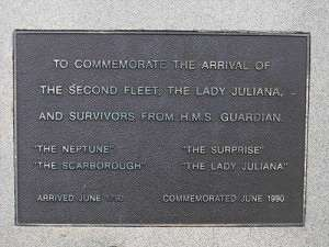 Second Fleet Inscription Plaque, Argyle Street, Barney & Bligh Reserve, The Rocks, Sydney NSW