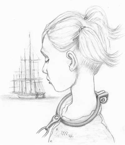Artist impression of a young female convict (Phillip Lock)