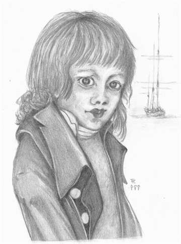 Artist impression of a young First Fleet lad (Phillip Lock)