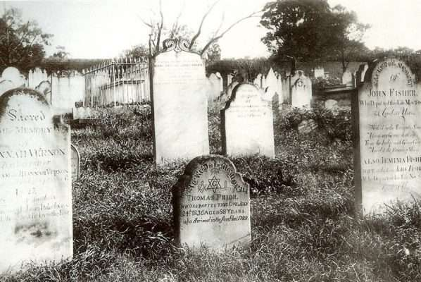 Devonshire Street cemetery headstone circa 1901 (RAHS) (With the redevelopment of the Old Sydney Burial Grounds, most remains and memorials went to Bunnerong Cemetery near the shores of Botany Bay).