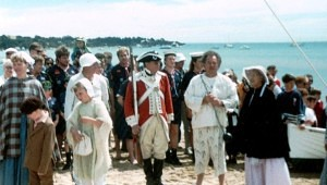 Re-enactment group after arrival off 'Lady Nelson' at Sullivan Bay Sorrento Beach
