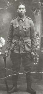 Oscar Henry Vince in his WW1, AIF Uniform (SLofT - PH30-1-9951)
