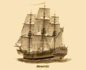 Convict ship Neptune, unknown artist